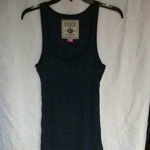 VS Pink Navy blue muscle tank top size large